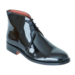 George Boots - Size 11 - Black Patent Leather