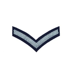 1 Bar Chevrons Lance Corporal – Service Stripe – Royal Air Force Badge