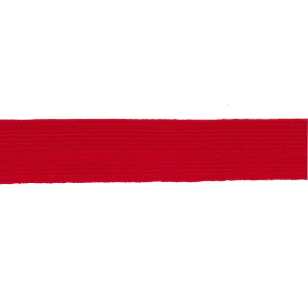38mm – Scarlet – Worsted – Flat Braid