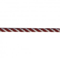 4mm – Red White Barbers Pole - Worsted Braided Cord