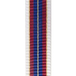32mm Qatar Honour Badge Class 1 Medal Ribbon - Moire Finish