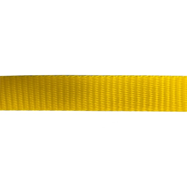 25mm Yellow Polyethylene Plain Weave - Self Binding Weave - Webbing