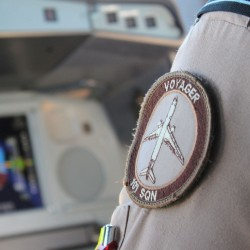 A Royal Air Force Voyager mission system systems operator supports the refuelling of British and coalition aircraft supporting operations against ISIL.
